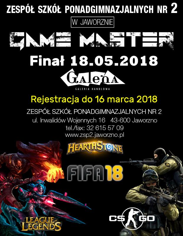 Turniej Gier E Sportowych Game Master 2018 Zespół Szkół